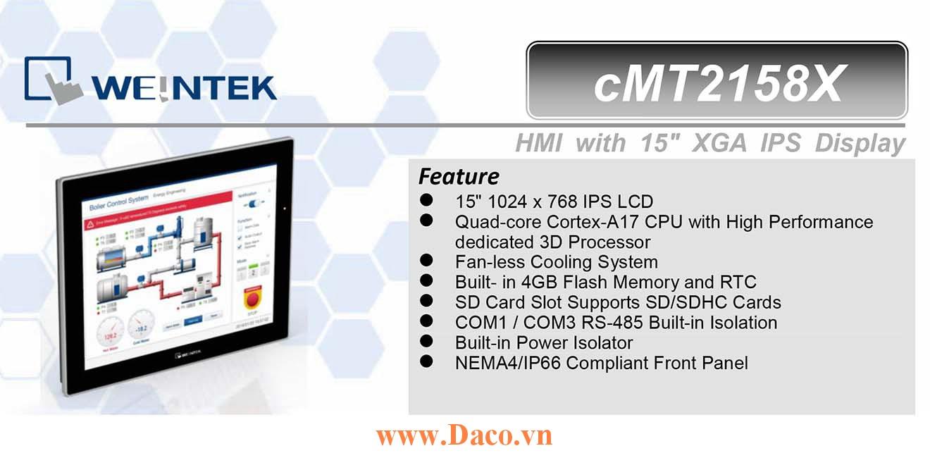 cMT2158X Màn hình cảm ứng HMI Weintek cMT 15 IPS Màu