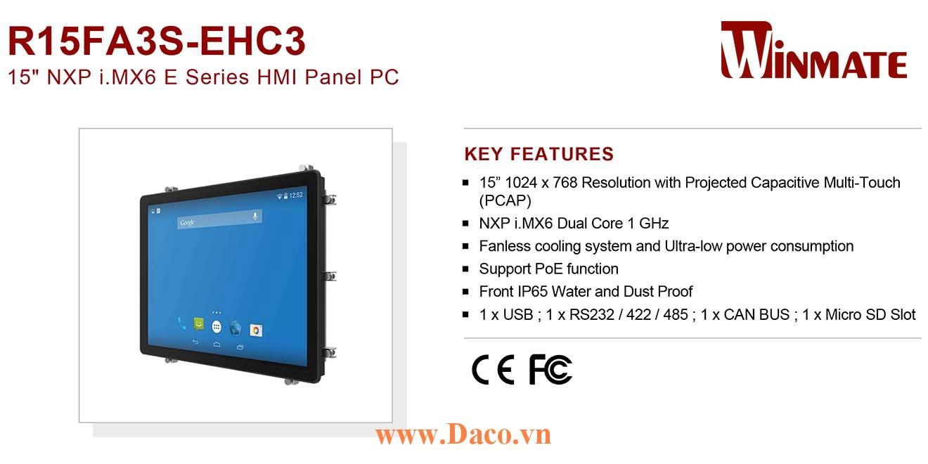 """R15FA3S-EHC3 Màn hình cảm ứng HMI Winmate 15"""" 1024 x 768 OS Options"""