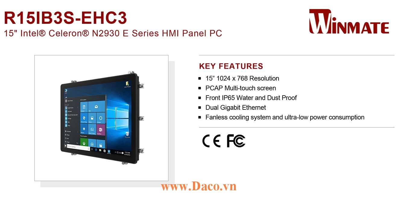 """R15IB3S-EHC3 Màn hình cảm ứng HMI Winmate 15"""" 1024 x 768 OS Options"""