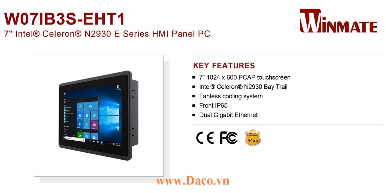 """W07IB3S-EHT1 Màn hình cảm ứng HMI Winmate 7"""" 1024 x 600 OS Options"""