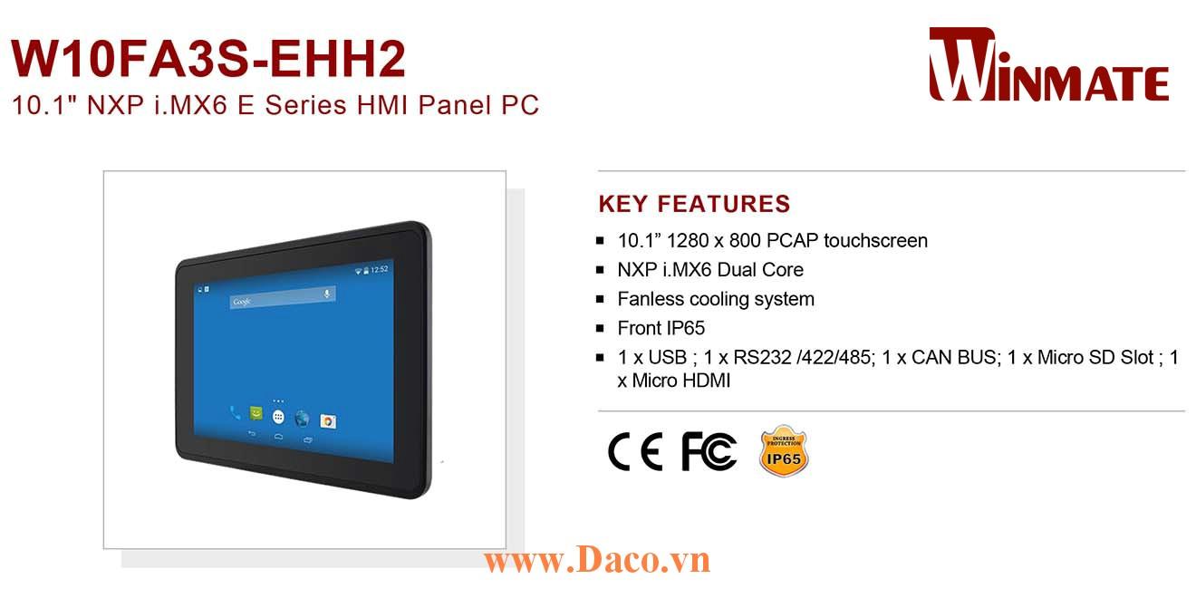"""W10FA3S-EHH2 Màn hình cảm ứng HMI Winmate 10.1"""" 1280 x 800 OS Options"""
