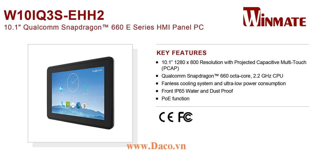 """W10IQ3S-EHH2 Màn hình cảm ứng HMI Winmate 10.1"""" 1280 x 800 OS Android 9.0"""