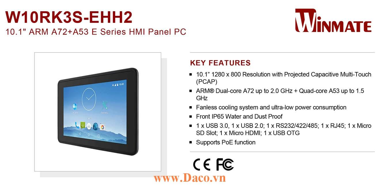 """W10RK3S-EHH2 Màn hình cảm ứng HMI Winmate 10.1"""" 1280 x 800 OS Android 7.1"""