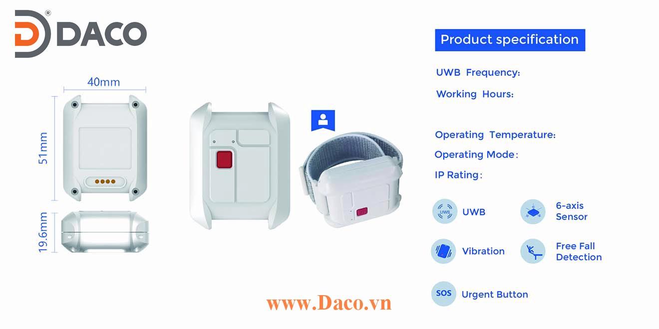UT-206-H Thẻ Tag cảnh báo chống va chạm gắn mũ hoặc đeo tay Woxu