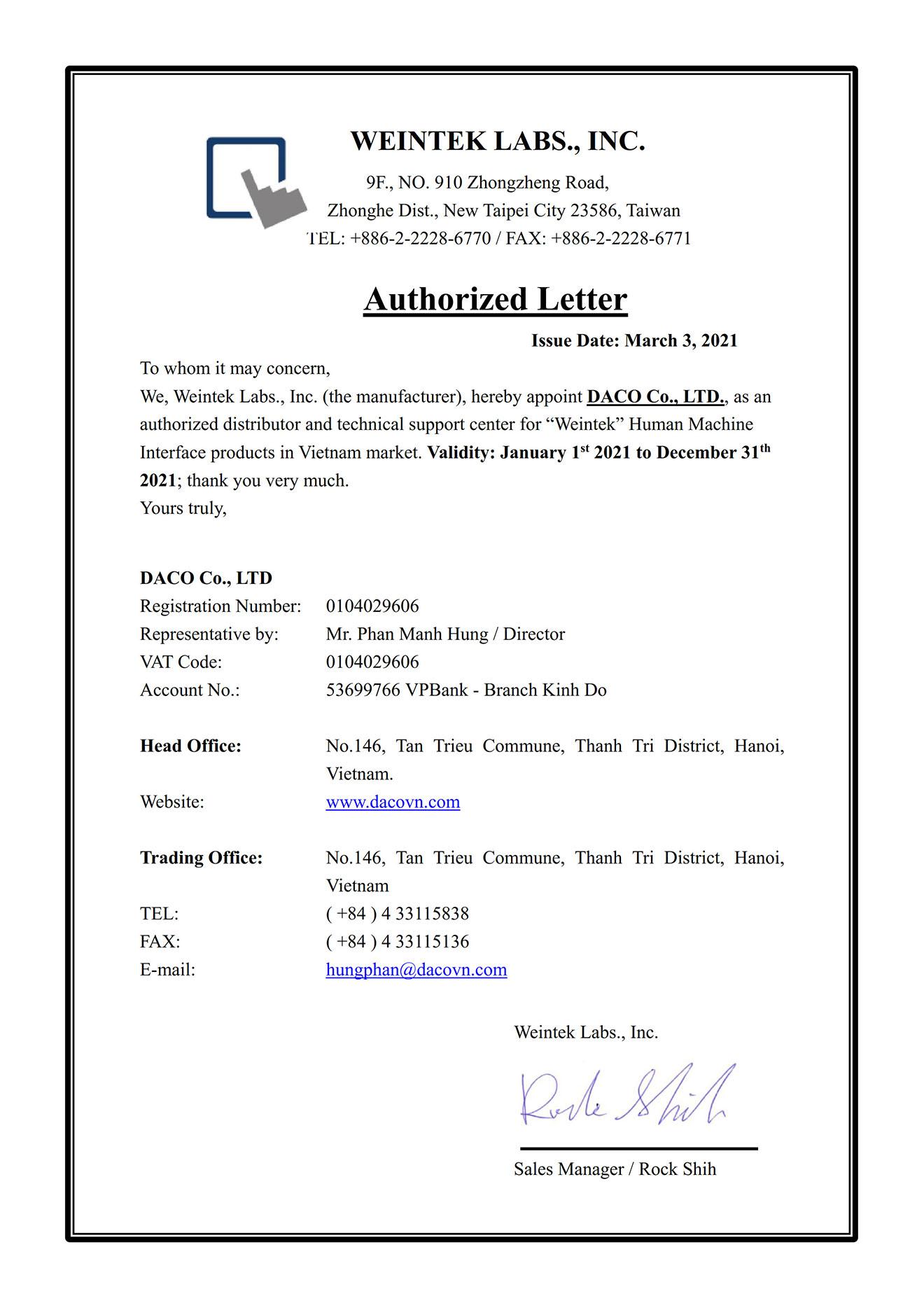 Weintek Đài Loan-DACO nhà phân phối thiết bị điện tự động hóa công nghiệp tại Việt nam